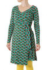 DUNS Radish Billiard LS Wrap Dress LADIES