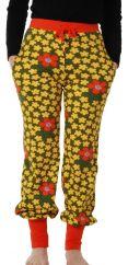 DUNS Flower Olive Baggy Pants ADULT