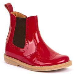 Froddo Red Patent Chelsea Boots