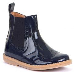 Froddo Midnight Blue Patent Chelsea Boots
