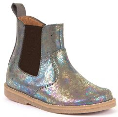 Froddo Grey/Silver Holographic Chelsea Boots
