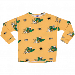 Jelly Alligator Golden Gator Yellow LS Top