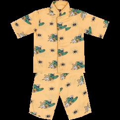 Jelly Alligator Golden Gator Yellow PJ Set