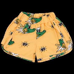 Jelly Alligator Golden Gator Yellow Retro Shorts