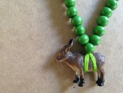 Pray4Trax Necklace Goat (green)