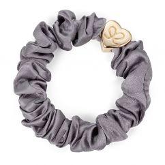 Byeloise hairtie grey silk scrunchie