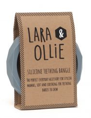 Lara and Ollie grey teething bangle