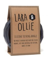 Lara and Ollie gunmetal teething bangle