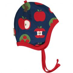 Maxomorra Apple Velour Helmet Hat