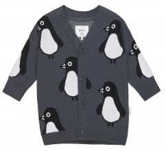 Huxbaby Penguin Knit Cardigan