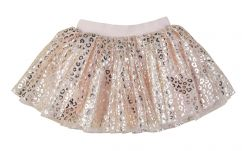 Huxbaby Gold Animal Tulle Skirt