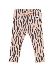 Huxbaby Tiger Ribbed Leggings with Lettuce Edge Detail