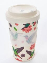 Eco Chic hummingbird bamboo cup
