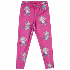 Raspberry Republic Pink Flying Kitty Jogging Tights