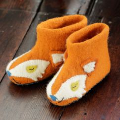 Piccalilly fox knit slippers