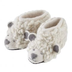 Piccalilly sheep knit slippers