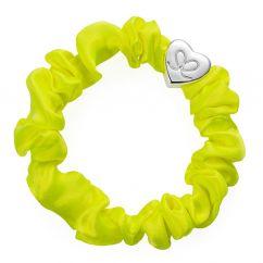 Byeloise Hairtie Lemon Yellow Silk Scrunchie