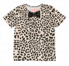 Bangbang Copenhagen leopard tee with bowtie