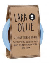 Lara and Ollie light blue teething bangle