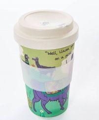 Eco Chic llama bamboo cup