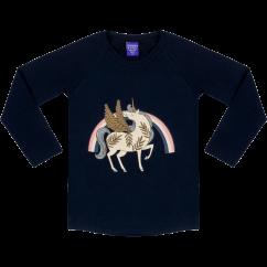 Raspberry Republic Unicorn Crew Rainbow Placement Print Top