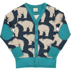 Maxomorra Polar Bear V-neck Sweat Cardigan
