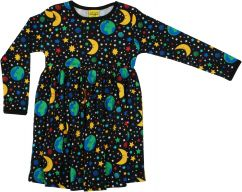 DUNS Mother Earth Black Twirly Gathered Dress