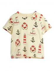 Mini Rodini Lighthouse AOP T-shirt
