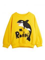 Mini Rodini Orca Yellow Sweatshirt
