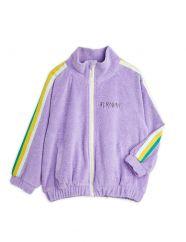 Mini Rodini Purple Terry Jacket