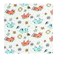 Raspberry Republic Piggy Paradise Burp Cloth