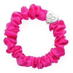 Byeloise Hairtie Neon Pink Silk Scrunchie