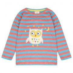 Piccalilly Stripy Owl Top