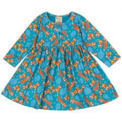 Piccalilly Foxes Button Dress