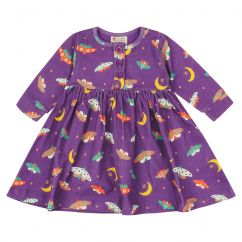 Piccalilly Moonlight Moth Button Dress