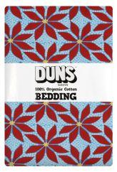 DUNS Poinsettia Blue NZ/UK Single Bed Set