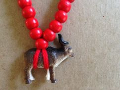 Pray4Trax Necklace Goat (red)