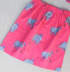 Oomph & Floss pink lemonade rhino woven skirt