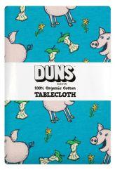 DUNS Pig Teal Tablecloth