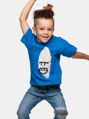 TGB Bwindi Gorilla Face Blue T-shirt