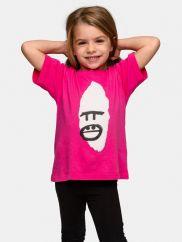 TGB Bwindi Gorilla Face Pink T-shirt