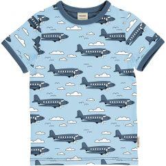 Meyadey Airoplane Sky T-shirt