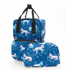 Eco Chic foldable backpack unicorns