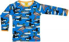 DUNS duck pond blue long sleeve top