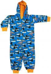 DUNS duck pond blue hooded onesie