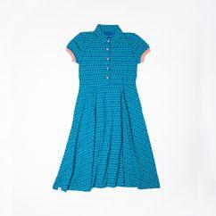 Alba Aia Ladies A Vintage Day Dress Snorkel Blue Flowers