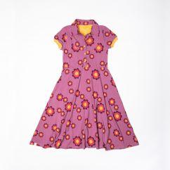 Alba Aia Ladies A Vintage Day Dress Bordeaux Flower Power Love