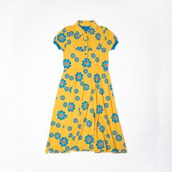 Alba Aia Ladies A Vintage Day Dress Gold Flower Power Love
