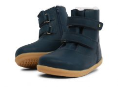 Bobux Aspen Navy Boots I-Walk Double Strap Fastening