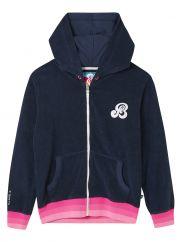 St.Bert's zip-ip hoodie dress blue